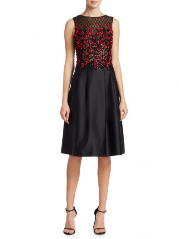 Ed Floral A-Line Cocktail Dress